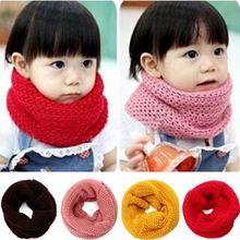 New Design Soft Candy Color Neck Bib Scarfs Kids Knitted Collar Winter Warm Scarf for Children Baby Girls Neckerchief(China (Mainland))