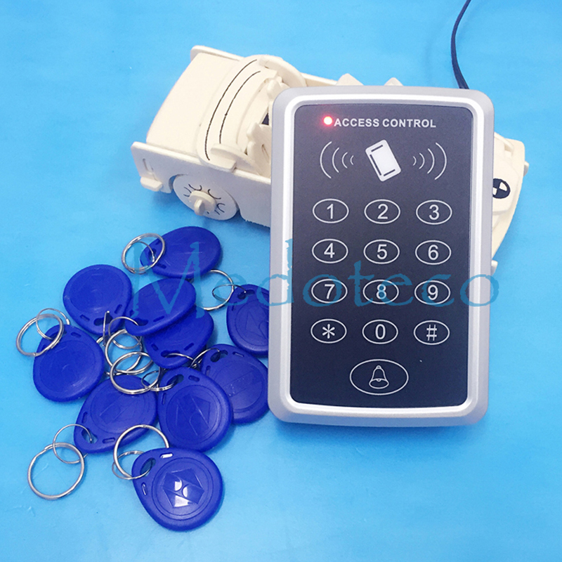 Special Price Free shipping+10 rfid tag+RFID Proximity Card Access Control System RFID/EM Keypad Card Access Control Door Opener(Hong Kong)