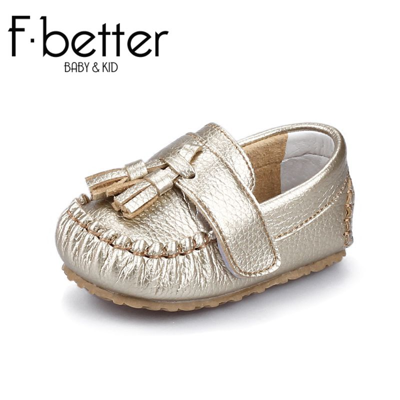 Fbetter First Walkers For Newborn Baby Boys Spring Shoes Genuine Leather Hook&loop Shoes 7 size Free Shipping(China (Mainland))