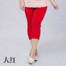 2016 New Candy Color Capris Elastic High Waist Skinny Pants Plus Size 5XL 6XL Summer Style Leggings For Women Candy Color Capris(China (Mainland))