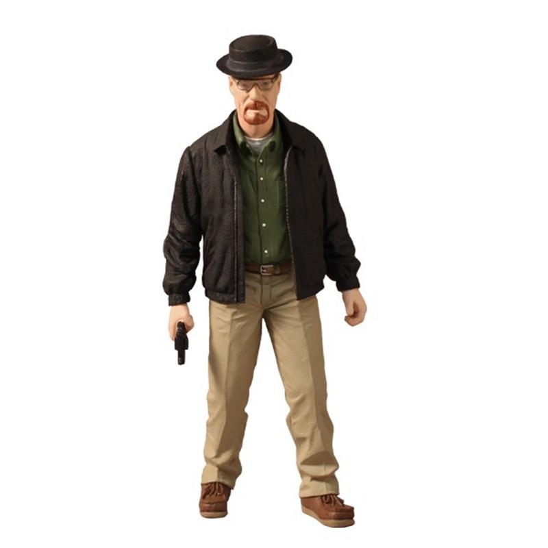 MEZCO Breaking Bad Walter White Heisenberg Action Figure TV Show Breaking Bad Toy Fair Version PVC Figure Toy(China (Mainland))