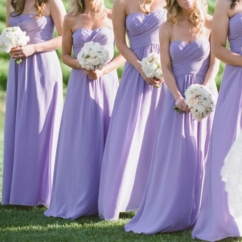 lavender bridesmaid dresses sweetheart strapless a line bridesmaid