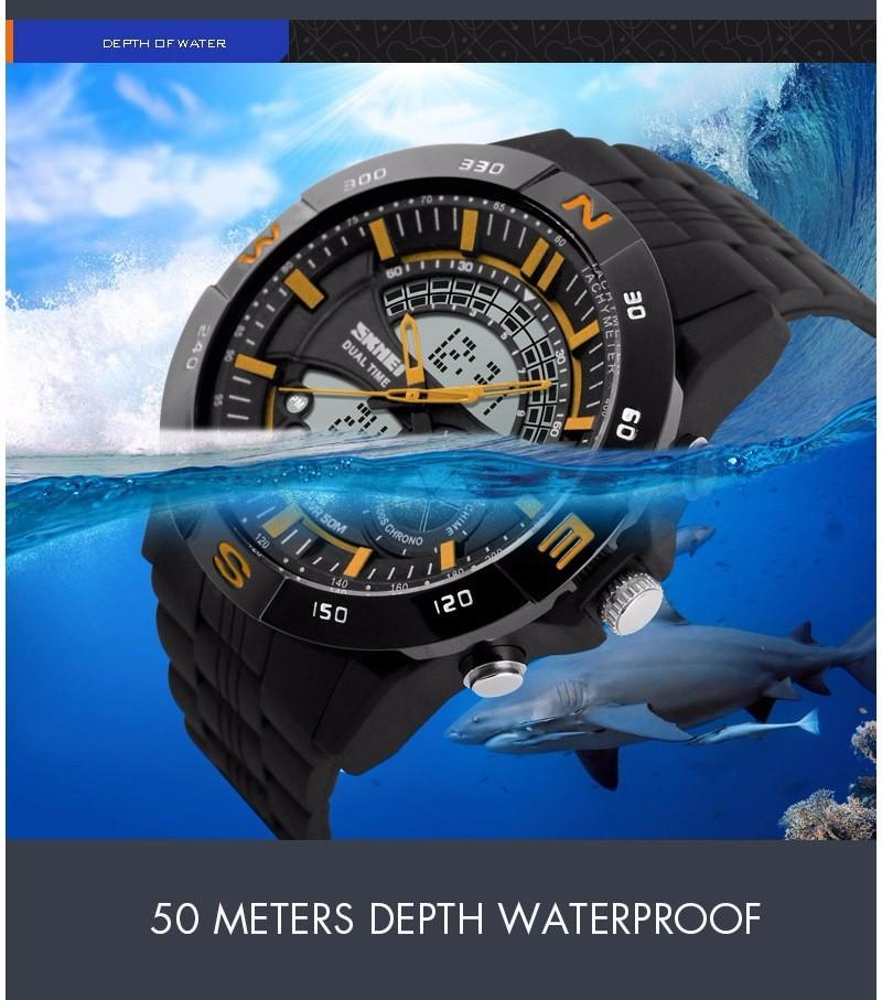 SKMEI Sport Military Watches Men LED Digital Casual Quartz Watch Dive 50m Rubber Strap brand luxury Clock relogio masculino(China (Mainland))