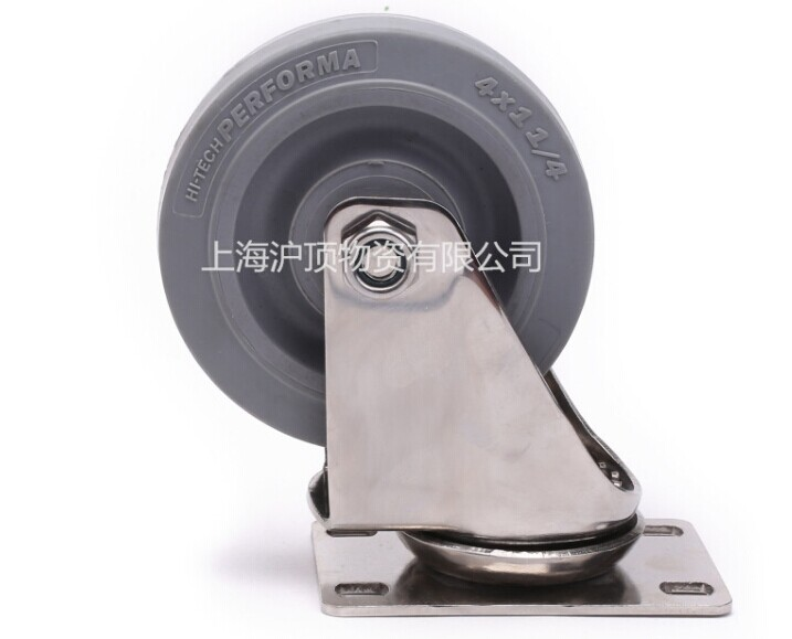 5-inch 304 stainless steel universal synthetic rubber silent castors without brake wheel surface mirror-polished<br><br>Aliexpress