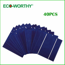 40pcs 5x5 Poly Solar Cell A Grade 125mm Polycrystalline Photovoltaic Solar Cell DIY 12V 100W Solar Panel for Phone Charger(China (Mainland))