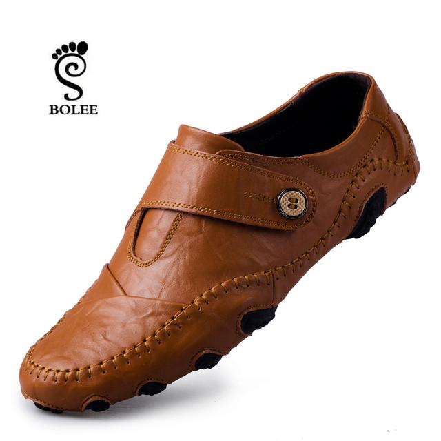 Мода Британский Стиль Мужчины Причинно-Следственной Обувь Из Натуральной Кожи Скольжения ...