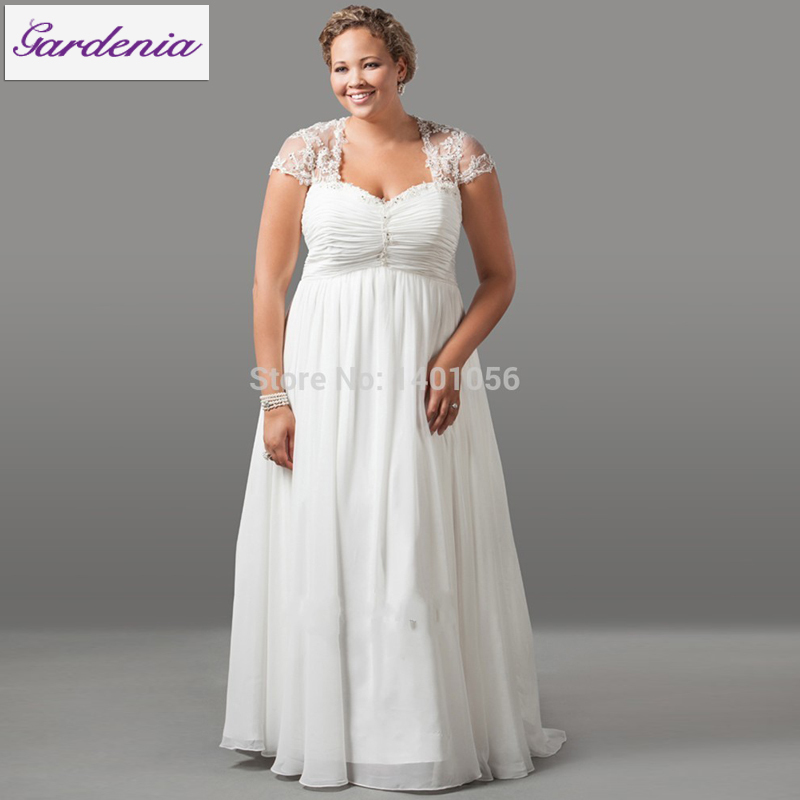 Vestido De Noiva Accept Minor Alteration Bride Drss for Pregnant Bridal Dress for Big Lady Plus Size Wedding Dress with Sleeves(China (Mainland))