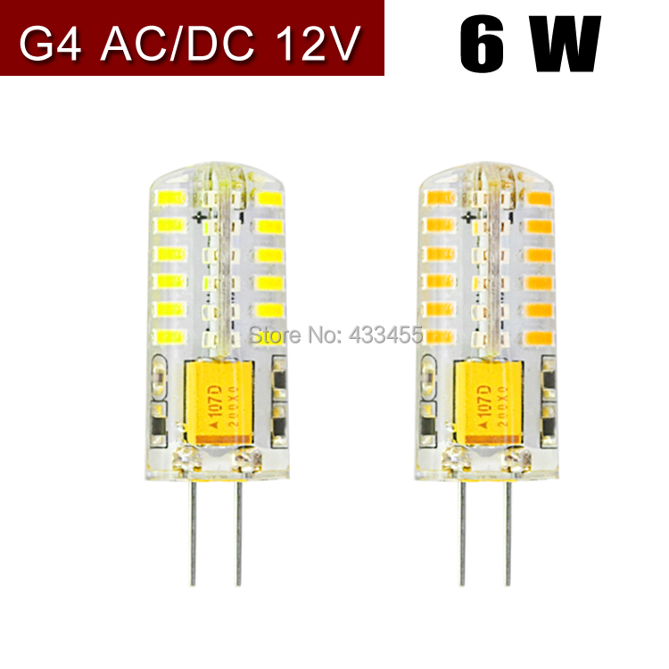 Free shipping High quality 1pcs AC/DC 12V G4 48 LED 6W Corn Light SMD 3014 bulb Super bright Replace Halogen Lamp Led Light(China (Mainland))