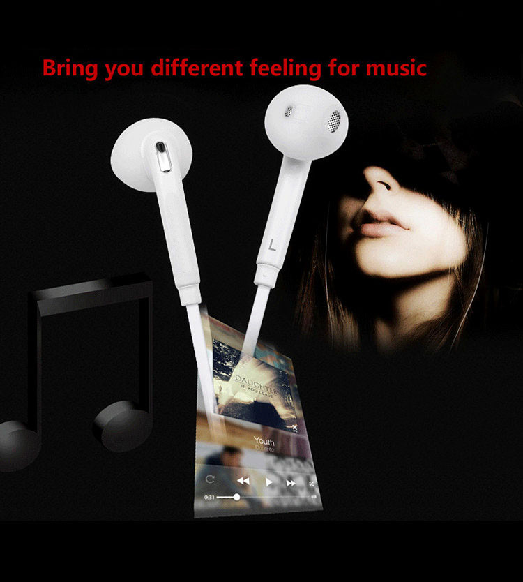 NEW In-Ear Earphones 3.5mm Wired S6 Earphone Headphone Headphset With Mic For Phone Samsung Galaxy S5 S6 S7 Smart phones Mp3 Mp4