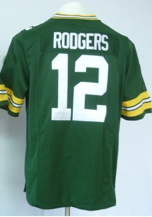 Discount Packers #12 Aaron Rodgers Jerseys green white football jersey stripped logos , free shipping fee Epacket(China (Mainland))