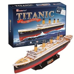 The new CubicFun 3D jigsaw puzzle paper model Titanic Deluxe Edition T4011 sail model gifts(China (Mainland))