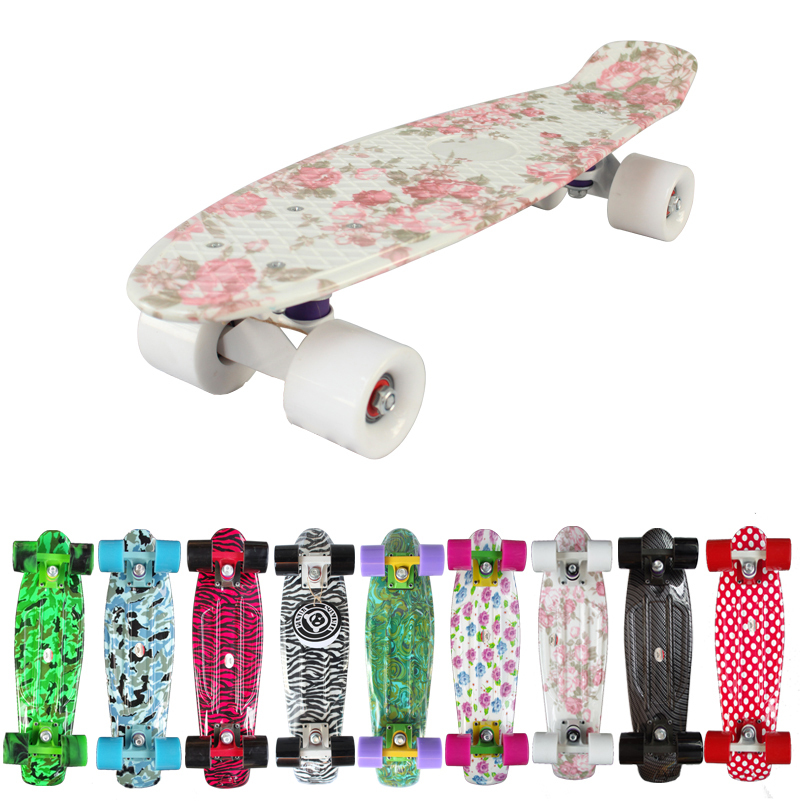 "New 2015 Custom Penny Skateboard Graphic series 22"" Retro Mini Skate Fish Long Board cruiser longboard complete skates patins(China (Mainland))"