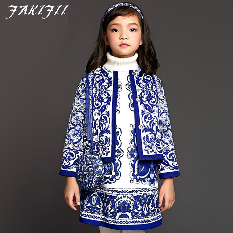 2015 girls warm coat baby winter long sleeve flower jacket children cotton-padded clothes kids christmas outwear free shipping <br><br>Aliexpress