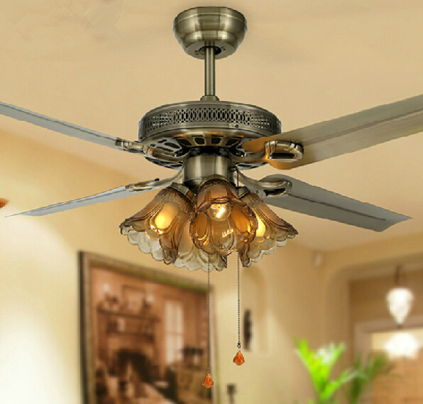 48 Inch Ceiling Fan With Lights 3 White Or Brown Blades