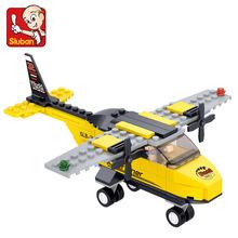 Sluban M38-B0360 110 шт. 3D строительство с образовательной Кирпичи Строительные Блоки Устанавливает Т-тренер, самолет детские игрушки Рождественские Подарки(China (Mainland))