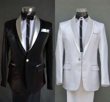 2015 Новый стиль мода мужские костюмы свадебные платья тамада председательством пром ну вечеринку этап одежда шоу костюмы пальто