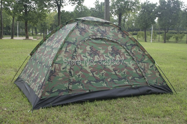 free and fast shipping wholesale Outdoor casual camping tent double single tier Camouflage tent rain tents lovers tent(China (Mainland))