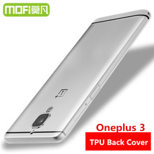 oneplus 3 three silicone case oneplus3 protective coque tpu skin transparent back cover mofi 64gb international one plus capa - Mofi Manufacturer Store store