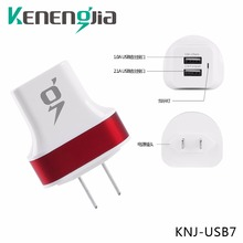 Mobile Phone Charger 2 USB Ports 2.1A and 10A USA Plug Fast Charging Travel Wall Charge 3 Adapter for IOS Android Smartphone Ta(China (Mainland))