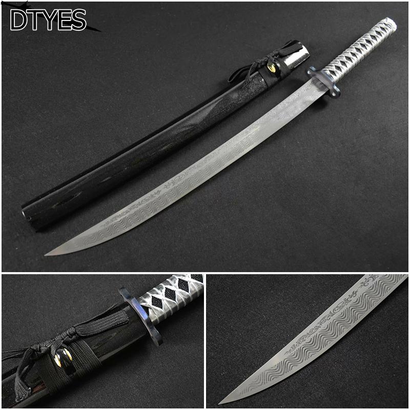 Echt Katana Schwerter High Manganese Steel Samurai Sword Handmade Katana Afiada Espada Samurai Katana Sword For Sale(China (Mainland))
