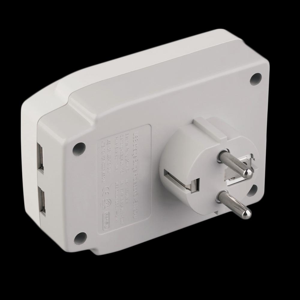 New Smart Home USB Port Power Plug Socket Surge Protector German 230V White Hot Promotion(China (Mainland))