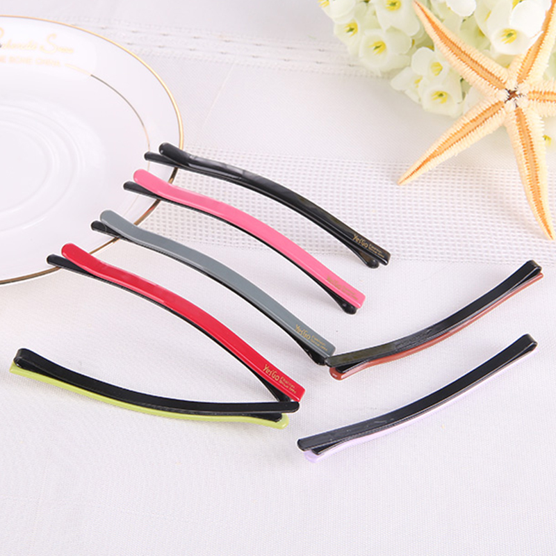 simple elegent girls plastic hair barrettes solid barrette hairpin hair clip for women accessoires pour cheveux barrettes A0327(China (Mainland))