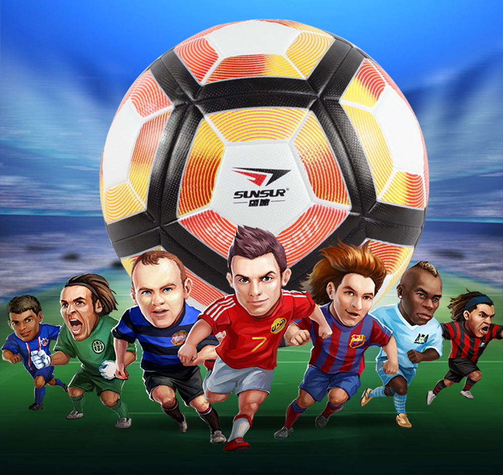 2016-17 Premier League Soccer Ball High Quality PU Seamless Football Ball Official Size 5 Slip Resistant Match Training Ball(China (Mainland))