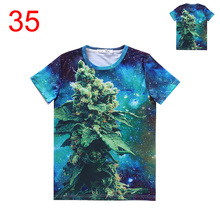Buy 63 Colors Choose Wholesale Retail Women Men 3d T-Shirt Weed Leaf Galaxy Life Pill Bananas t Shirt triangle Big Donut Burgers tee for $18.04 in AliExpress store