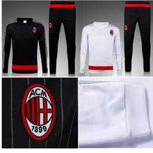 AC Milan Jacket: AC Milan Training Suit 2016 Chandal AC Milan Soccer Maillot Foot Survetement Football AC Milan Tracksuit shirt winter jacket