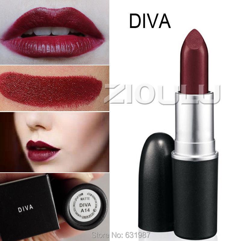 Wholesale top quality brand makeup retro matte diva - Mac cosmetics lipstick diva ...