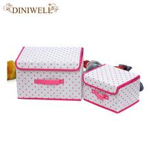 1 PCS Home Zakka Tidy Storage Fold Box Handle Closet Bin For Shoe Laundry Clothing Toy Underwear Organizer(China (Mainland))