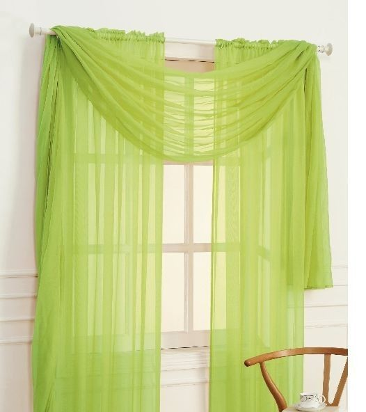 Voile Cafe Curtains Scarf Valance Curtains Valance For Living Room 54 In Width And 108 In