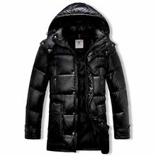 Snowka Fashion Down Jacket Men Winter 2015 Long Hood Famous Brand 90% White Duck Down Jacket  Warm Parka Thicket  Outwear Coat