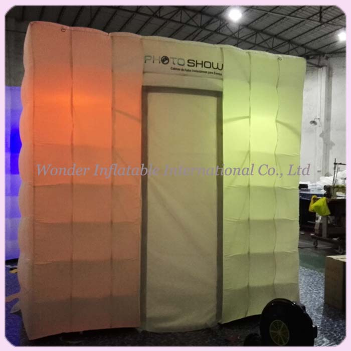 Custom portable 8ft inflatable photo booth with led for wedding/parties(China (Mainland))