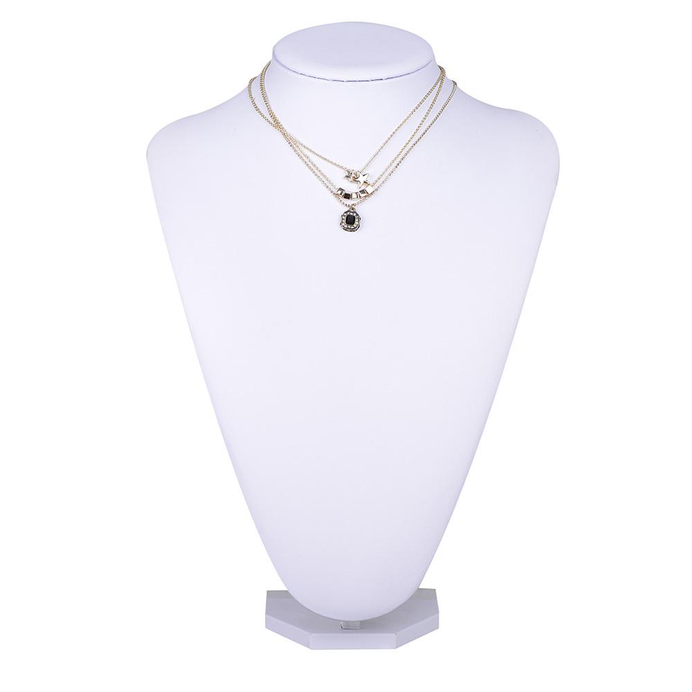 Set Black Resin Necklace! Punk Style Golden Iron Chain Necklace Triad style Necklace Suitable for men and women(NL159137)(China (Mainland))