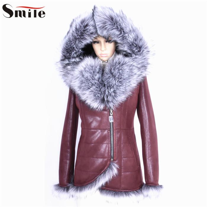 Fashion Women Thicken Warm Winter Coat Fur Hood Parka Long Jacket Overcoat Ladies Stylish Winter Faux Leather Hooded Parkas 2015Îäåæäà è àêñåññóàðû<br><br>
