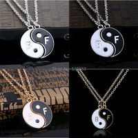 Collier 2015 Fashion Best Friends Necklace For Couples Yin Yang Pendant Gold/Silver Plated Necklace Party Jewelry