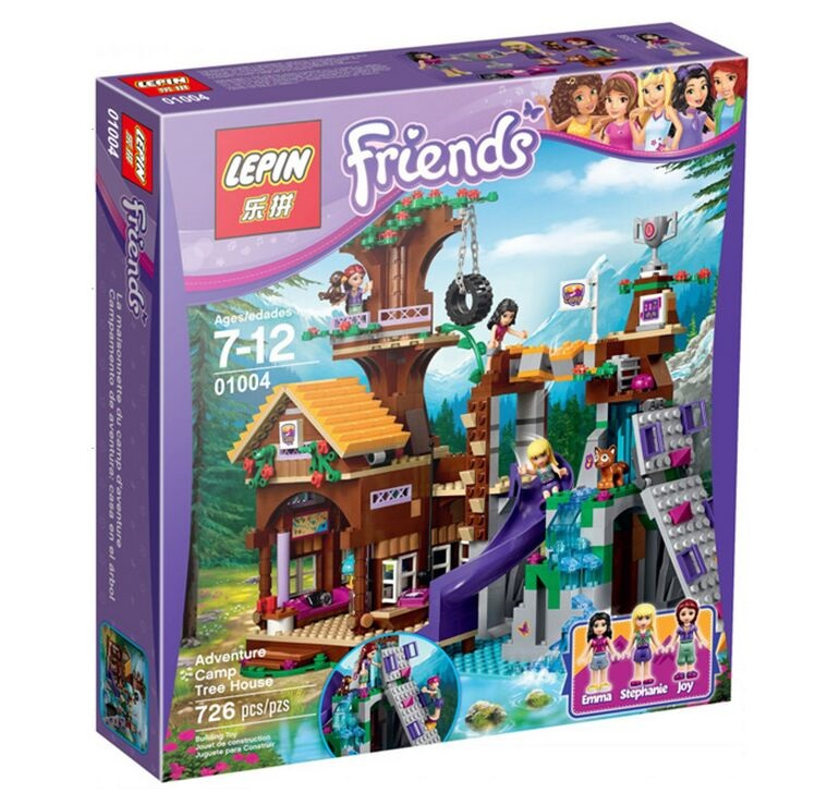 LEPIN 01004 726Pcs Friends Adventure Camp Tree House Building Blocks Legoelieds Kits Minifigures Blocks Bricks Girl Toys 41122(China (Mainland))
