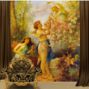 Mural 3d three-dimensional wallpaper fashion classical console sofa tv background wallpaper wall clothes mural wall stickers