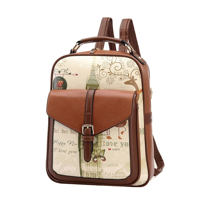 Women Leather Backpack School Bags High Quality Casual Bags Ladies Fashion Woman Backpacks Vintage Bolso European American Style(China (Mainland))