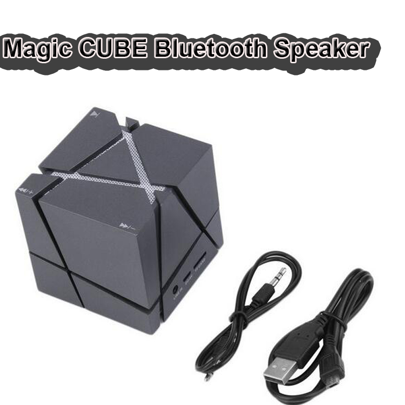 Newest Portable Mini Bluetooth Speaker Magic Cube LED 3W Stereo Sound Box Mp3 Player Subwoofer Speakers Built-in 500mAh Battery(China (Mainland))