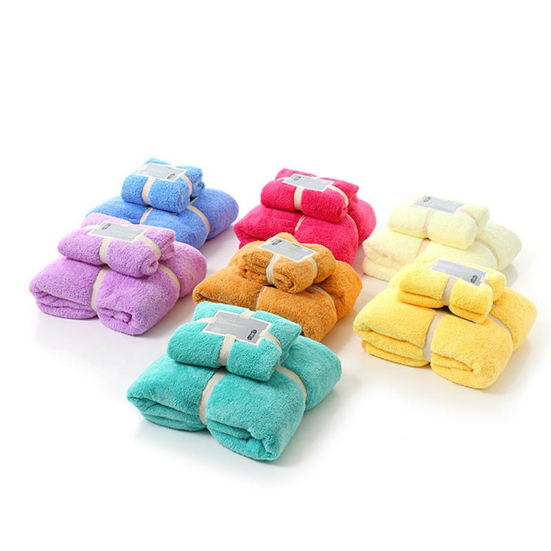 Minimalist Towel 7 Colors Soft Qualified Face/Hand/Bath Towels 2Pcs for Family Cotton toalha de banho(China (Mainland))