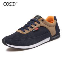 New 2016 Men Casual Shoes Spring Autumn Patchwork Men Shoes Canvas Fashion Lace Up Flats Plimsolls Male Footwear Gumshoe BRM-602
