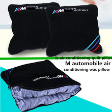 36*36 cm For M automobile air conditioning was pillow pillows quilt cushion vehicle refit new M logo(China (Mainland))