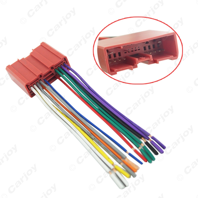 Car Radio CD Player Wiring Harness Audio Stereo Wire Adapter for Mazda Install Aftermarket CD/DVD Stereo(China (Mainland))