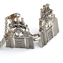 Free Shipping Hot Movie Harry Potter Castle Necklace Can Open Box Pendant Vintage Necklace For Women And Men Hot Movie Jewelry