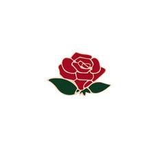 Fashion Bunga Kerah Pin Wanita Lencana 2 Buah Merah Hitam Rose Desain Logam Bros Pin Pasangan Hadiah Romantis Kencan Pernikahan perhiasan(China)