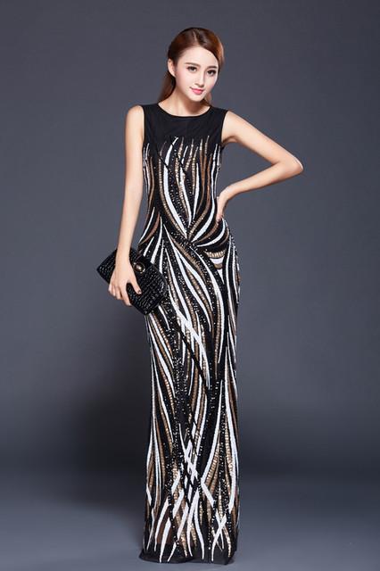 Длинные вечерние платья блестками Жилетido де феста лонго com реальная картина TK1575 ...