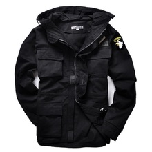 Military style hooded jackets for men pilot coat usa army 101 air force bomber M65 jacket(China (Mainland))
