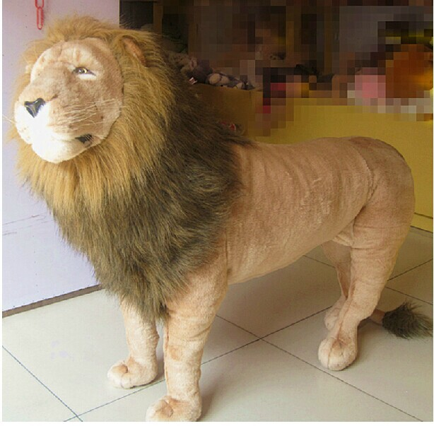 super huge plush lion toy big simulation lion doll king lion toy birthday gift lion doll about 110X80cm(China (Mainland))